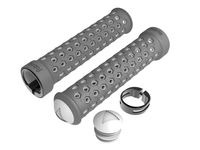 Fabric Lite Lock-On Grips  Grey White  click to zoom image
