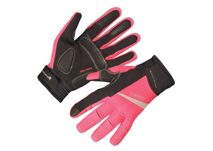 ENDURA Womens Luminite Glove HiVizPink click to zoom image