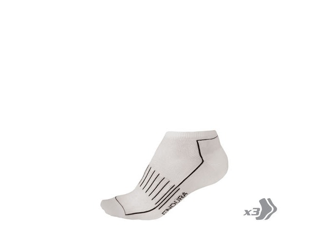 ENDURA COOLMAX® Race Trainer Sock (Triple Pack) White click to zoom image