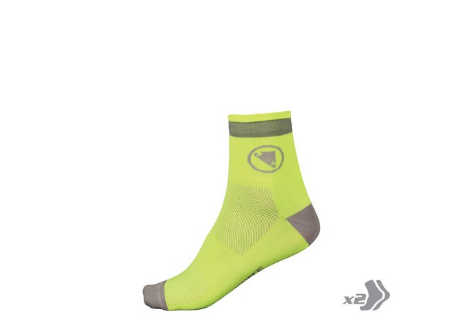 ENDURA Luminite Sock (Twin Pack) HiVizYellow click to zoom image